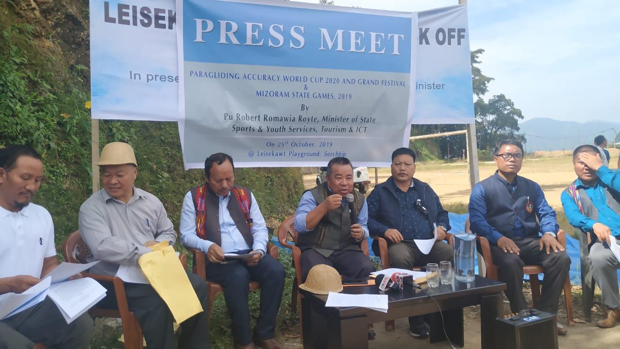 Sports Minister Robert Romawia Royte Press Meet